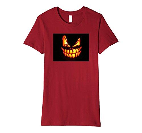 Womens HALLOWEEN T-SHIRT PUMPKIN FACE Large (Mean Halloween Pumpkin Face)