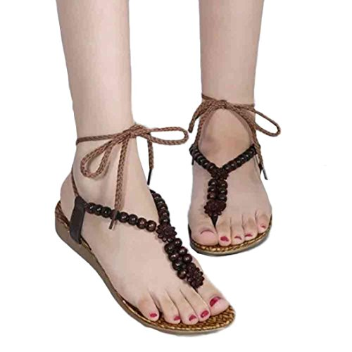 a649f1a2e024 Sinfu Fashion Flat Shoes Bohemia Leisure Lady Peep-Toe Sandal Women Outdoor  Rome Sandals lovely