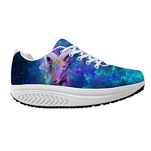Lightweight Wedge Shoes for Women Swing Walking Sneaker Animal Pattern Fitness Platform Pattern 3 VN47eb