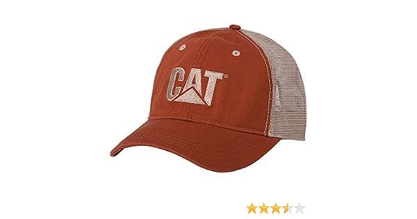a13685aefb8 Cat Orange Twill Tan Mesh-CAT Hat at Amazon Men s Clothing store