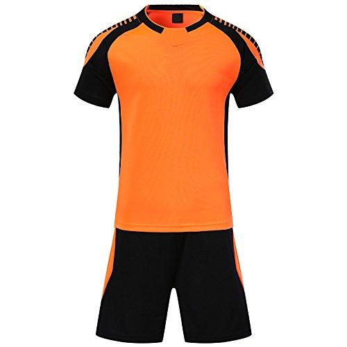 独創的好奇心盛助言BOZEVON メンズ&ボーイズサマーフットボールキット、ショートスリーブサッカーTシャツ + サッカーショーツ、吸汗速乾