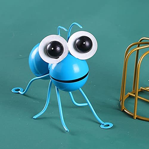 Metal Wall Art Ants 3D Sculpture,Colorful Metal Ant Wall Decor Set Hanging for Indoor and Outdoor, Outdoor Garden for Home, Living Room, Patio, Office (Blue+Green)