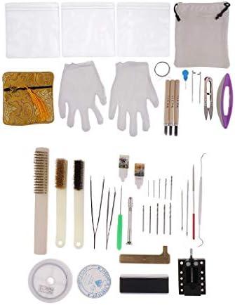 dailymall 木彫りツール 陶芸工具セット 彫刻ツール 粘土彫刻ツール 粘土細工道具 プラスチック+布+金属材質
