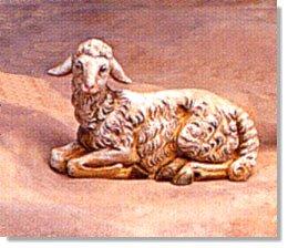 12 Inch Scale Sheep Seated Sheep