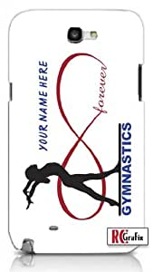 diy phone caseinfinity Forever Gymnastics Personalized with your Custom Name Premium Samsung Galaxy S5, S 5 Quality PVC Hard Plastic Cell Case for Samsung Galaxy S5, S 5 - AT&T Sprint Verizon - White Casediy phone case