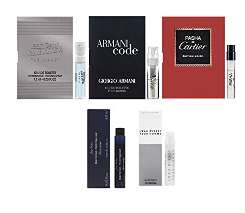 Men's cologne sampler pack - ALL High end Designer perfume sample Lot x 5 Cologne -