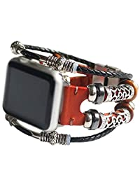 Folk-Custom Smart Watch Band, Replacement Band for iWatch/Apple Watch Band Series 1 Series 2 Series 3 Series 4 38/40/ 42/ 44mm,Red,40mm