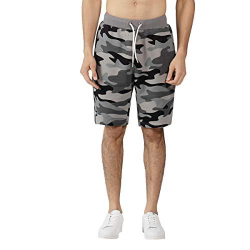 Extreme Pop UK Hommes Short Camo Terry Army Combat Pantalon Court de Football Sportif Grande Vente la Semaine dernière 1