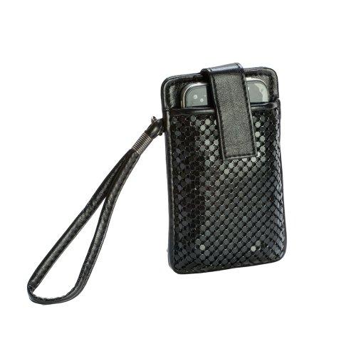 Mundi Black Cell Phone Wristlet w/ Sequin Mesh, Bags Central