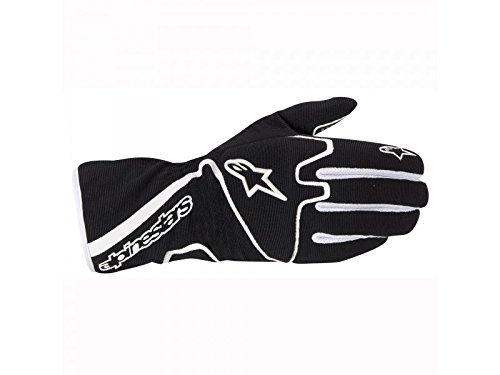 ALPINESTARS TECH 1-K RACE GLOVES - BLACK/WHITE - SIZE L ()