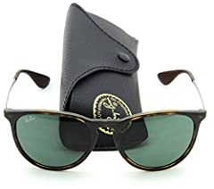 Ray-Ban Erika RB4171 sunglasses are the perfect accessory to complete any look. Featuring both classic and bright fronts, metal temples and tone-on-tone temple tips, Ray-Ban Erika sunglasses will set your look apart from the crowd. The oversi...