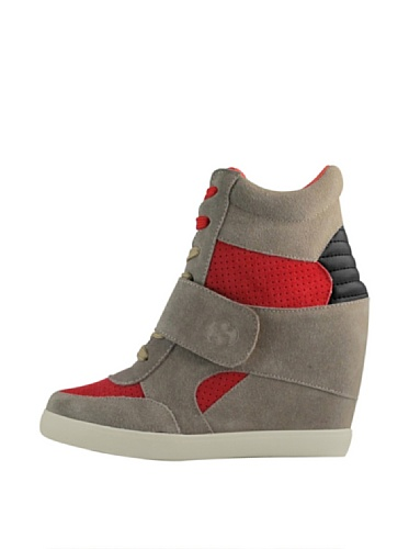 Sneakers - 4489-suew SAND-INDIANRED-BLACK