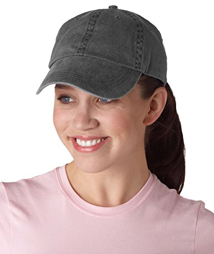Anvil Classic Solid Pigment Dyed Twill Cap, Charcoal, One Size (Cap Solid Twill Pigment Dyed)