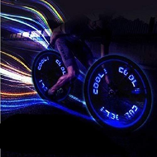 ArgoDBar Color/é Imperm/éable /À leau Super Lumineux V/élo V/élo Roue De Valve Cap Lumi/ère Light LED Tire Tire Bouchon De Valve Roue De Rayons Lumi/ère