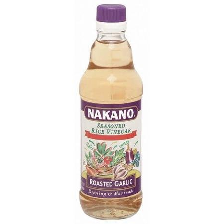 Nakano Seasoned Rice Vinegar Roasted Garlic 12.0 OZ(Pack of 3)