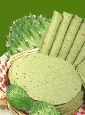 Tortillas De Nopal the Healthy non GMO corn kernels Green Cactus Tortilla 4 Pound by anahuan