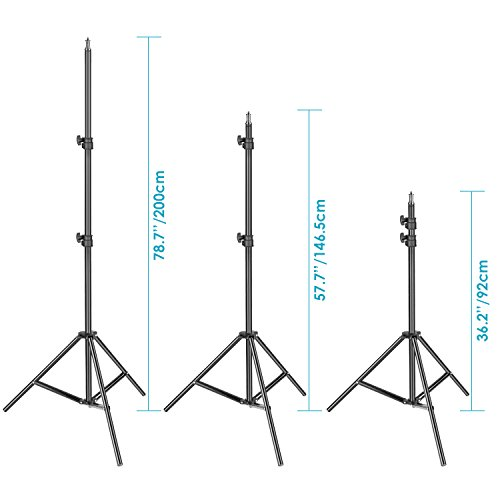 Neewer 3 Packs 660 LED Video Light Photography Lighting Kit with Stand: Dimmable 3200-5600K CRI96+ LED Panel, Premium 200cm Light Stand for Studio YouTube Video Outdoor Shooting by Neewer (Image #4)
