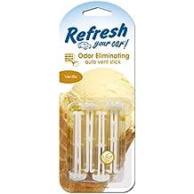 Refresh Your Car! 09589 Auto Vent Stick, Vanilla, 4 Per Pack