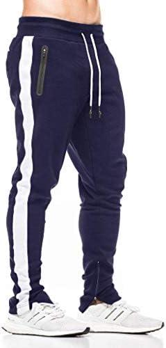 ジョガーパンツ メンズ スキニー ロングパンツ ファスナー付き スリム トレーニングウェア ランニング フィットネス スポーツ スウェットパンツ アウトドア