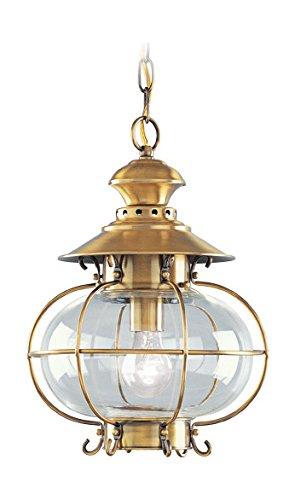 Flemish Brass Hanging Lantern ()