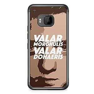 Game of thrones HTC One M9 Transparent Edge Case - Valar Morghulis