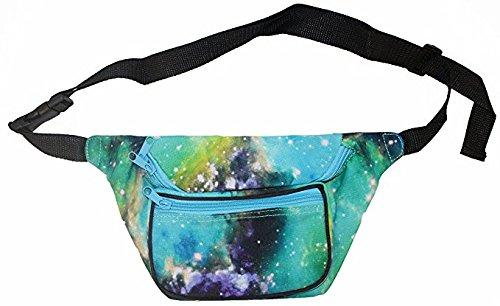Green Galaxy Waist Bag