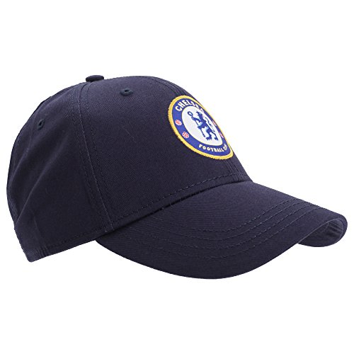 Fc Chelsea - Chelsea FC Unisex Official Football Crest Baseball Cap (One Size) (Navy Blue)