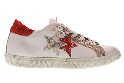Sneakers Rouge Femmes Blanc 2sd Star 2 Chaussures 1825 Oq1HF