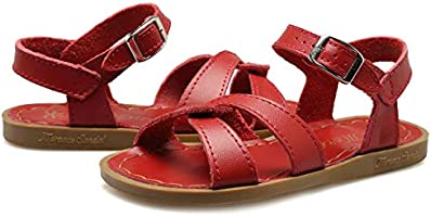 Toddler//Little Kid//Big Kid//Womens WALUCAN Girls Leather Sandals Open-Toe Adjustable Flat Sandal Casual Shoes Outdoor and Indoor U3ELTLX001