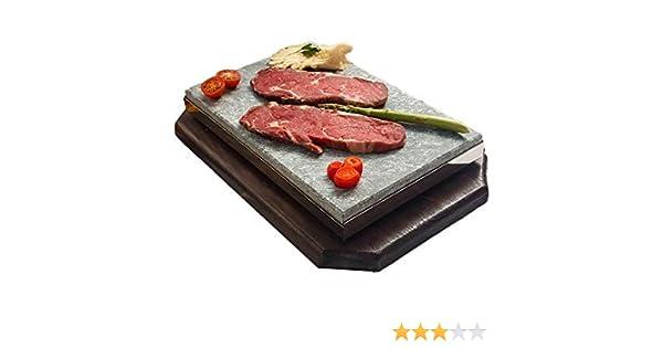 Set completo de piedra volcánica de 20x30 para asar carne