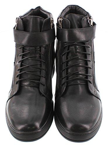 Calto G10721-3.2 Pollici Taller - Scarpe Per Ascensori Con Altezza Crescente (stivaletti Alla Caviglia In Pelle Nera)