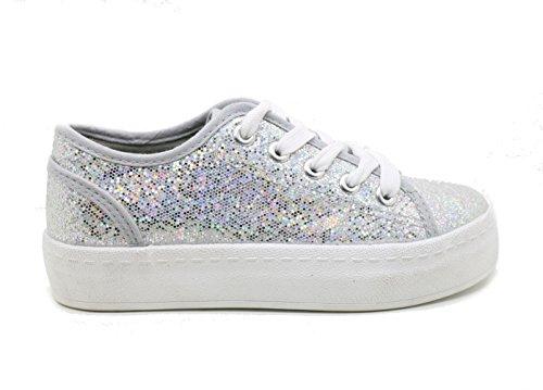 XTI, Sneaker bambine argento