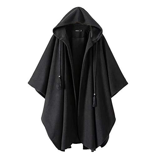 Mesdames Poilu Au Zyg Longue gg Noir Confortable Section Capuche Loisir s Gardez Hiver Loose Chaud Manteau Automne Cape Et 5qpPSqZ