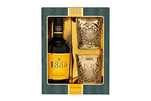 Brandy solera gran reserva D.O. Jerez 1866 70cl – estuche con 2 vasos