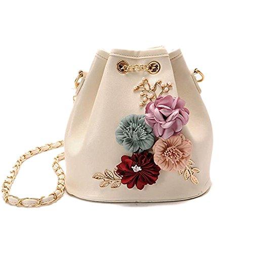 ZAMAC - Bolso al hombro para mujer, blanco (Blanco) - K1-0518 3Bucket bag White Blanco