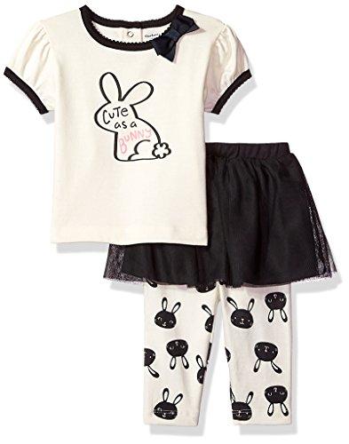 Bunny Clothes For Girls (GERBER Baby Girls' Shirt and Tutu Capri Set, Bunny, 24)