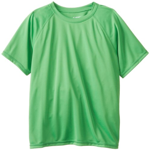 (Kanu Surf Big Boys' Short Sleeve UPF 50+ Rashguard Swim Shirt, Solid Green, Small (8) )