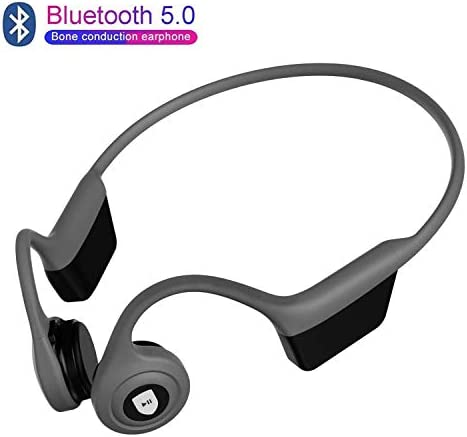 Open-Ear Bone Conduction Headphones Bluetooth 5.0 Wireless Headsets HiFi Music Stereo with Mic Sweatproof Noise Cancelling Earphone for Jogging Running Sports and Fitness