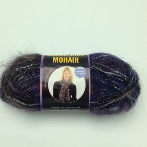 Lion Brand Moonlight Mohair Yarn, Purple Mountains - Moonlight Mohair Yarn