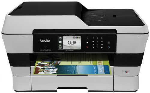 Brother MFCJ6920DW Wireless Multifunction Inkjet Printer with Scanner, Copier and Fax, Amazon Dash Replenishment Enabled