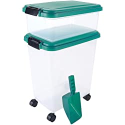 3- Piece Airtight Pet Food Storage Container Combo, Everglade Green