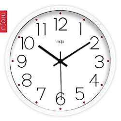 Quietness @ Modern Colorful Creative Silent Non-ticking Wall Clock Digital Steel inch/ /12 Brushed
