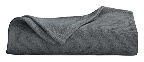 Martex Cotton Woven Blanket, Twin, Quiet Shade - Martex Vellux Twin Blanket