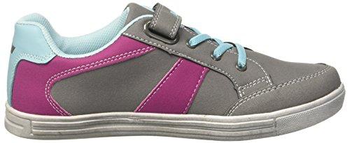 Lico Damen Club Vs Sneaker Grau (Grau/Pink/Tuerkis)