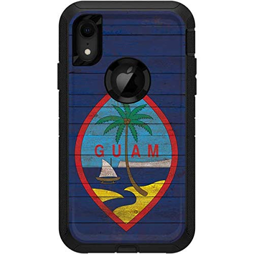 (Skinit Guam Flag Dark Wood OtterBox Defender iPhone XR Skin - Asian Flags OtterBox Case Decal - Ultra Thin, Lightweight Vinyl Decal Protection )