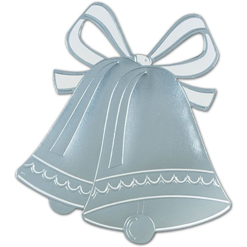 Beistle 55443-S Foil Wedding Bell Silhouette, 16-1/2-Inch