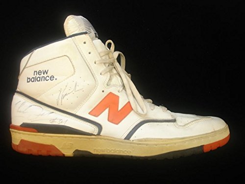 Game Used & Autographed Charles Oakley NY Knicks Sneaker - B&E Hologram