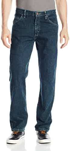 Wrangler Authentics Men's Classic 5-Pocket Authentics Regular Fit Jean, Black, 36x28
