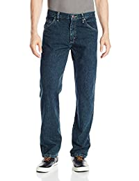Wrangler Authentics Jeans clásicos de algodón de Ajuste Regular de 5 Bolsillos para Hombre
