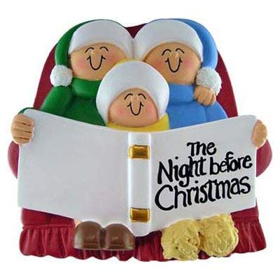 (Family on Couch 3 People Ornament)